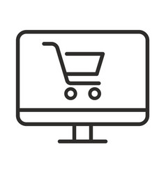 online shopping icon outline online shopping icon vector image