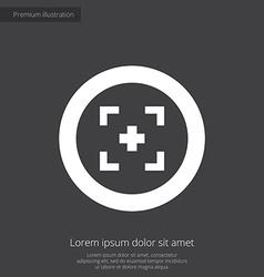 optical sight premium icon vector image