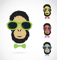 Orangutan glasses vector