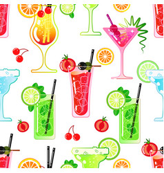 pattern seamless of alcoholic beverages vector image