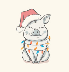 pig symbol 2019 new year vector image