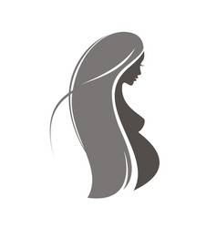 pregnant woman symbol stylized silhouette vector image
