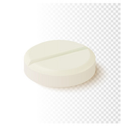realistic medical pill isolated on transparent vector image