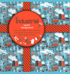 Red round placard and industrial background vector