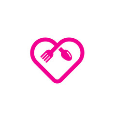 romantic food logo icon design vector image