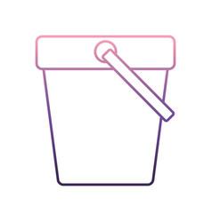 Sand bucket icon vector