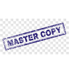 Scratched master copy rectangle stamp vector