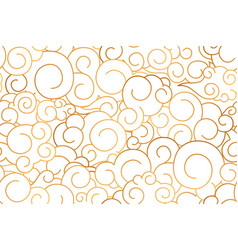 seamless pattern chinese curly golden clouds vector image