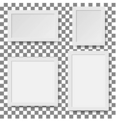 set of empty white picture frames paper frame vector image