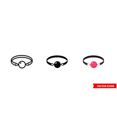 sex gag icon 3 types isolated sign vector image
