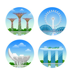 sights of singapore vector image