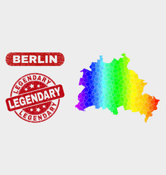 Spectrum mosaic berlin city map and grunge vector