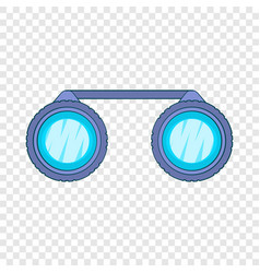 Sport binoculars icon cartoon style vector