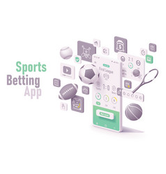 sports betting app concept vector image