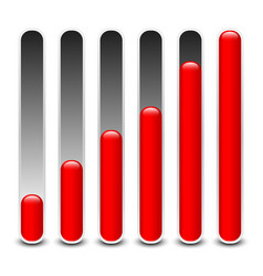 Stylish loading bars meters benchmark or level vector