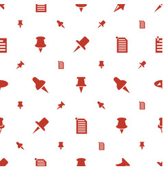 Tack icons pattern seamless white background vector