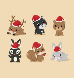 these cute animals vector image