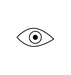 view eye icon vector image