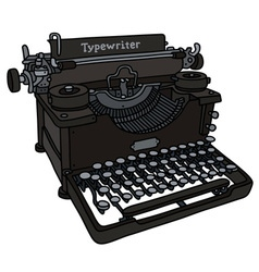 Vintage black typewriter vector