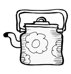 Vintage teapot vector image vector image
