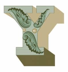 western letter y vector image