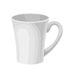 white ceramic tea or coffee mug vector image