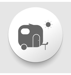 Camper sign on a white background vector image