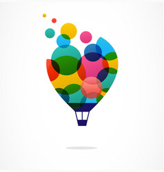 creative colorful icon hot air balloon vector image vector image