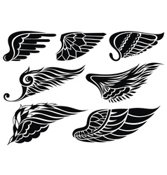 Decorative design wings vector image vector image