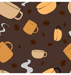Seamless Pattern with crockery vector image vector image