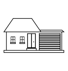 Small house icon outline style vector image vector image