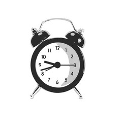clock on isolated white vector image vector image