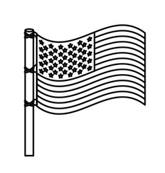 figure united states flag icon vector image vector image