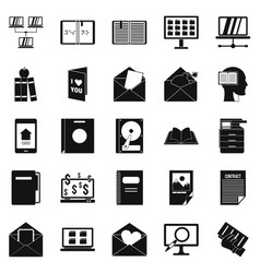 folder icons set simple style vector image vector image