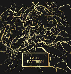 gold curly pattern vector image