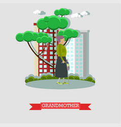 Grandmother in flat style vector