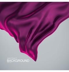 Purple silk fabric vector