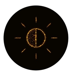 Brightness icon silhouette of gold lights vector image vector image