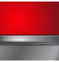 Metal background with place for text vector image vector image
