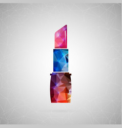 abstract creative concept icon of lipstick vector image