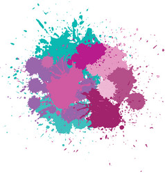 blots in bright colors vector image