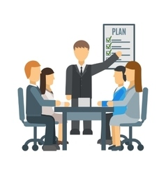 Business training vector image vector image