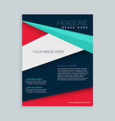 geometric poly shape business brochure flyer vector image vector image