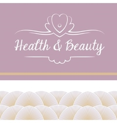 logo depicting shells and pearls Health vector image