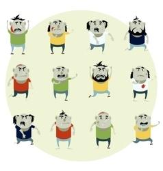 Set of zombie cartoon icons2 vector image