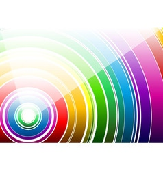 white rainbow vector image vector image