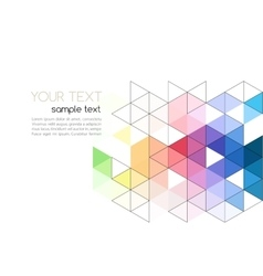 Abstract background color triangle vector image