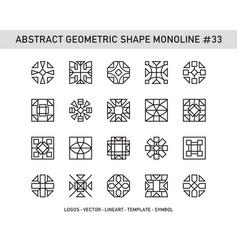 Abstract geometric shape monoline 33 vector