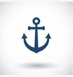 anchor flat icon vector image