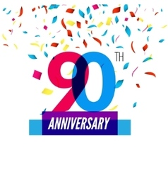 Anniversary design 90th icon anniversary vector image